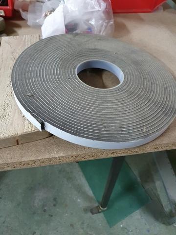 4,6 m longitud 1,3 cm espesor Banda autoadhesiva neopreno 1,3 cm anchura