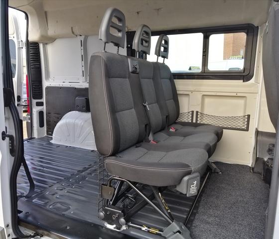 Fundas para asientos ya referencias set QY Fiat Scudo imitación cuero negro