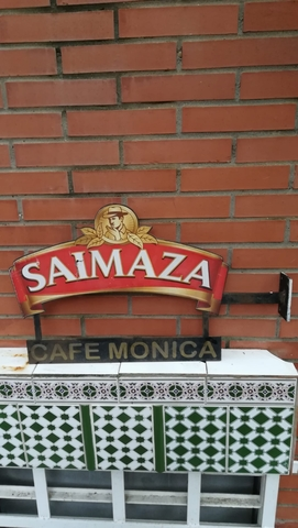 "Cartel ""Cafe Saimaza\"""