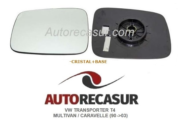 04=/>09 Recambio cristal espejo retrovisor con base Izquierdo VW Transporter T5