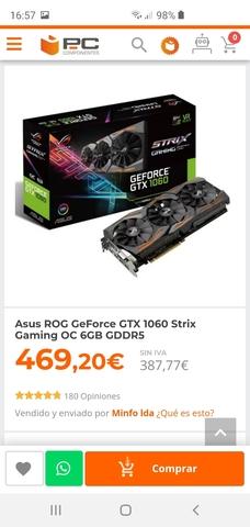 ASUS STRIX 1060 GAMING 6GB - foto 1