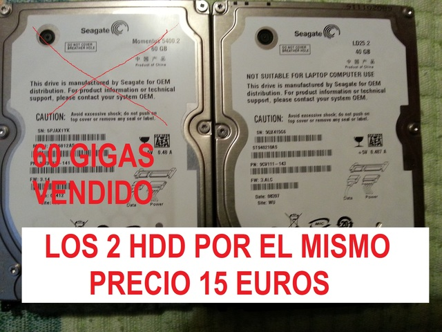 DISCO DURO 40 GB SATA 2, 5 PULGADAS - foto 1