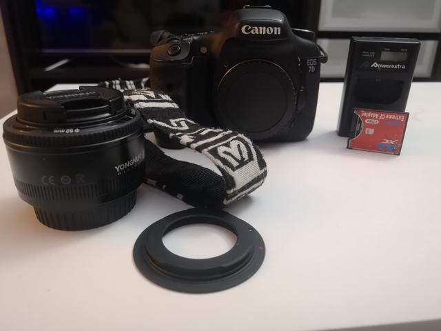 CAMARA CANON 7D + 50MM + ADAPTADOR CF SD - foto 2