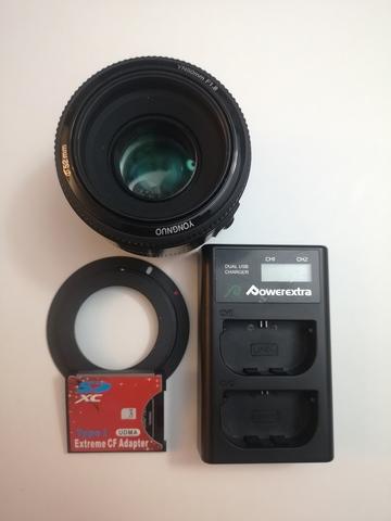 CAMARA CANON 7D + 50MM + ADAPTADOR CF SD - foto 5