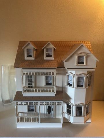 2 casa de muñecas en miniatura de jardín CC relojes de pared