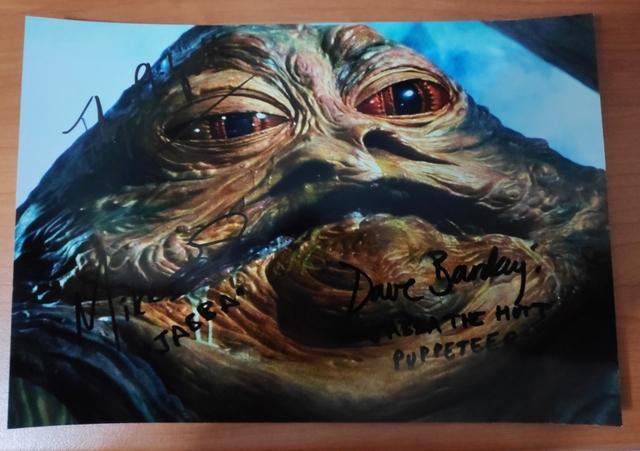 Foto Autógrafo De Star Wars