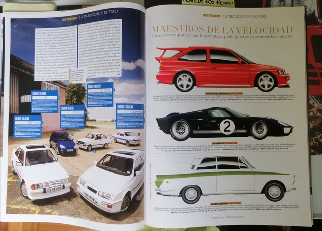 3 REVISTAS  FORD RS,  FOCUS RS,  SIERRA RS - foto 2