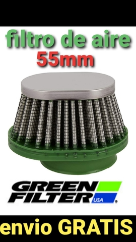 @ (A) MOTO FILTRO AIRE GREEN 50/60MM - foto 1
