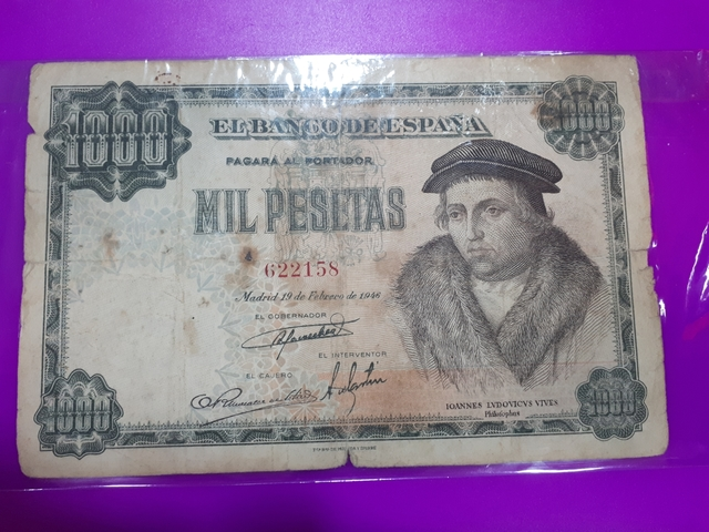 Billete 1000 Pesetas Luis Vives