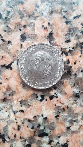 Moneda  Franco 5 Pesetas *19 50*