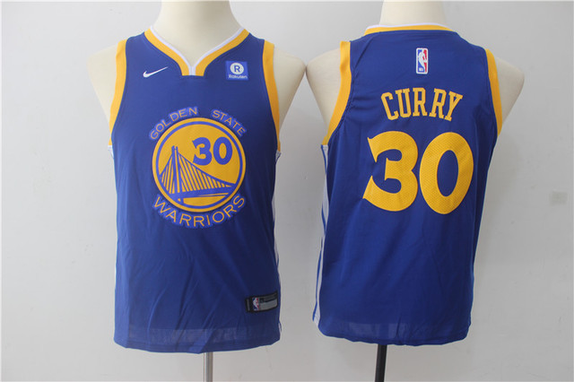CAMISETA NBA WARRIORS 30 AZUL PARA NIÑOS - foto 1