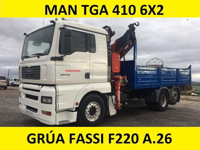 MAN GRUA BASCULANTE - TGA 410 FASSI F 220 A. 26 - foto 1