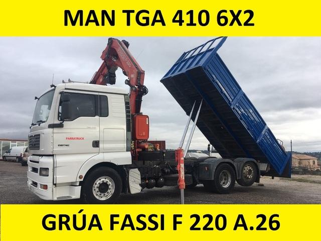 MAN GRUA BASCULANTE - TGA 410 FASSI F 220 A. 26 - foto 2