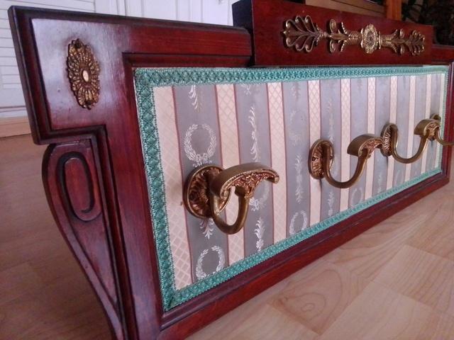 Perchero armario estantería de pared de hierro estilo antiguo marrón jardín