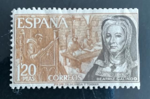 Sello España 1,20 Pesetas Beatriz Galind