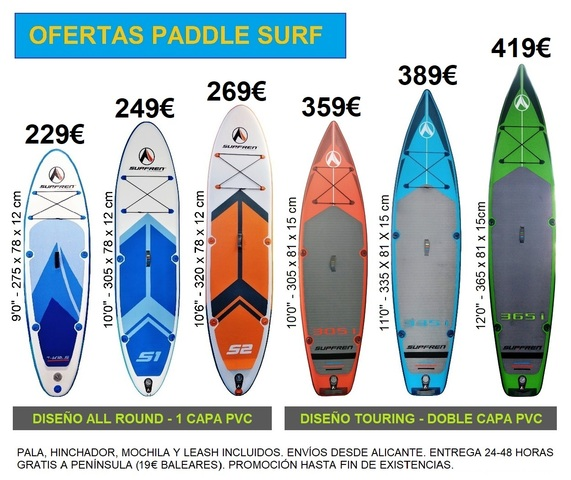 PADDLE SURF HINCHABLE DESDE 219  - PROMO - foto 1