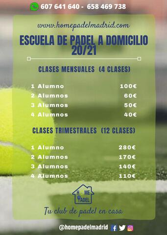 HOMEPADELMADRID CLASES DE PADEL - foto 4