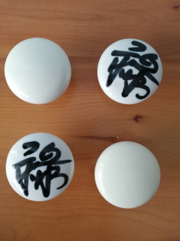 4 Tiradores / Pomos Ceramicos Blancos