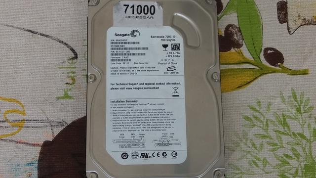 """DISCO DURO SEAGATE 160 GB SATA 3, 5\"""" - foto 2"""