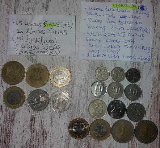 Monedas Siria Y Turquia