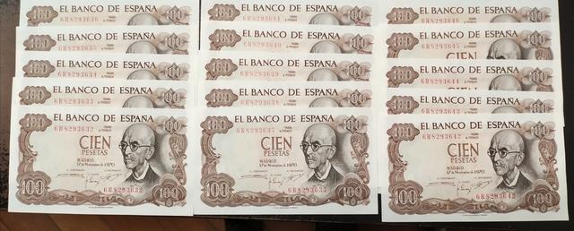Billetes 100 Pesetas 1970 Sin Circular