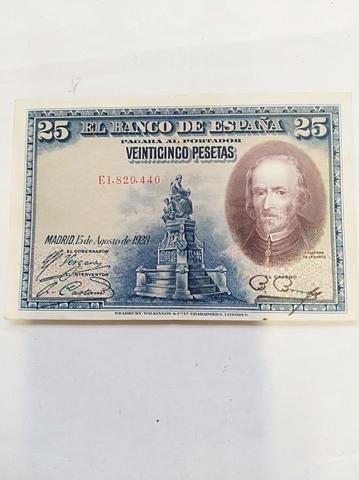 Billete De 25 Pesetas Del 1928