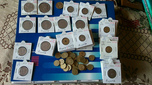 Lote Monedas Pts. Solo Rey Juan Carlos I