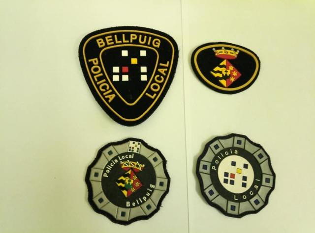 4 Escudos Policía Local Bellpuig(Leida).