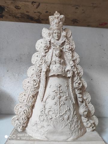 S Expedito 12 cm imagen religiosa estatua con peana marmol figura antiguo
