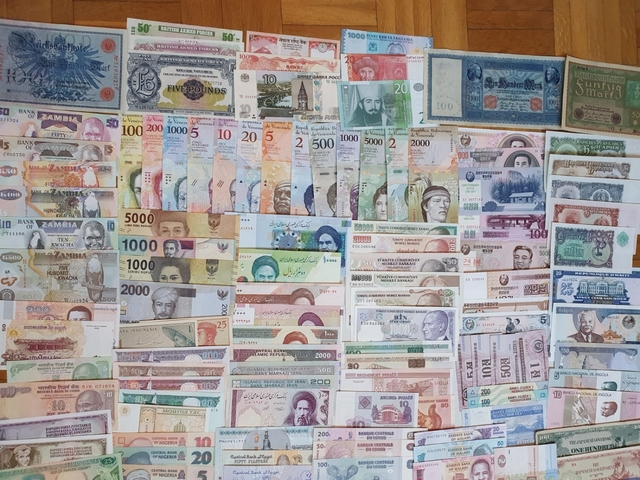 Colección De 197 Billetes Mundiales. Tod