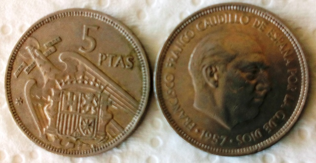 Moneda De Franco 5 Ptas.