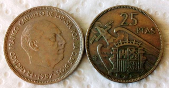 Monedas De Franco De 25 Ptas.