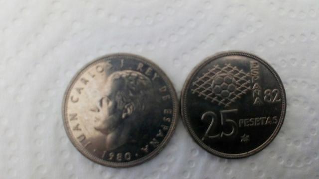 Monedas De 25 Ptas Mundial 82