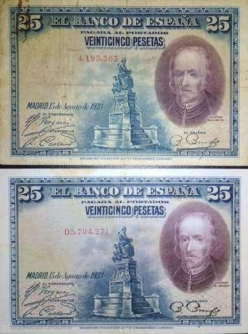Pareja 25 Pts 1928 Sin Serie Y Con Serie