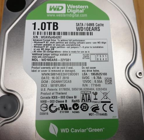 DISCO DURO HDD SATA 1TB 1000GB WD - foto 3