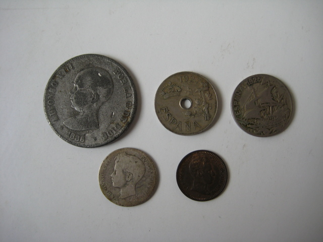 Monedas Alfonso Xiii España.
