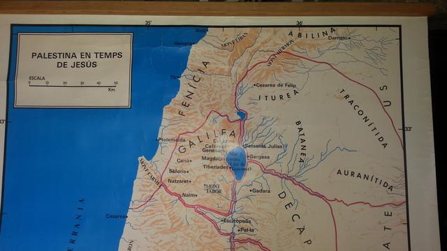 Vendo Antiguo Mapa De Palestina