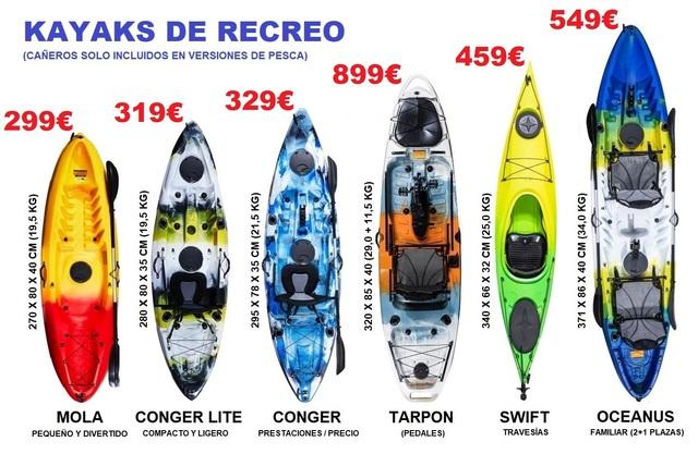 KAYAKS DE RECREO DESDE 319 - foto 1