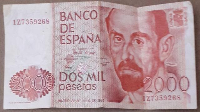Vendo Billete 2000 Pesetas