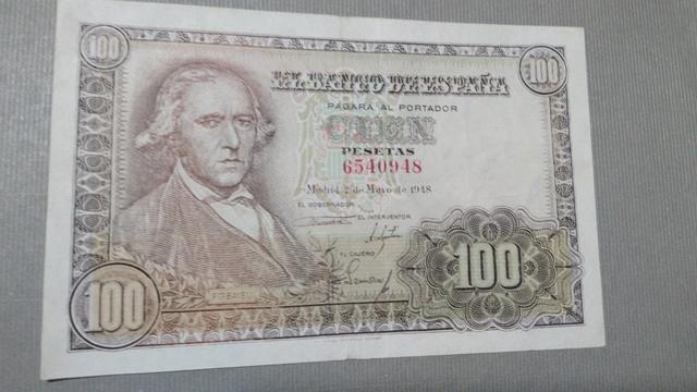 Billete 100 Pesetas 1948.