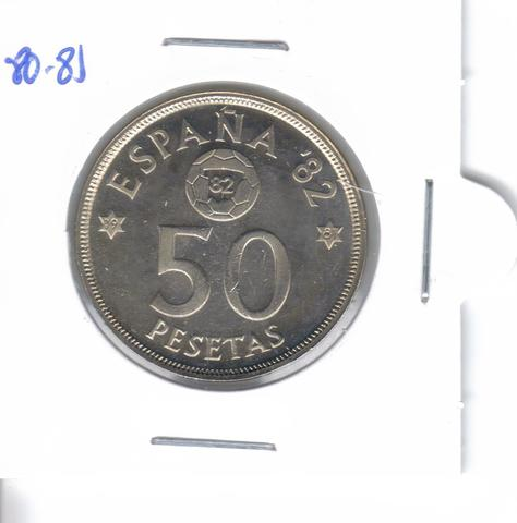 Moneda De  50 Ptas. De  1980*81  (S/C)