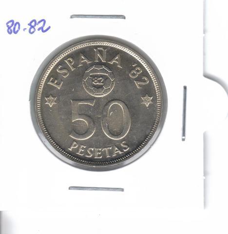 Moneda De 50 Ptas. De  1980*82  (S/C)