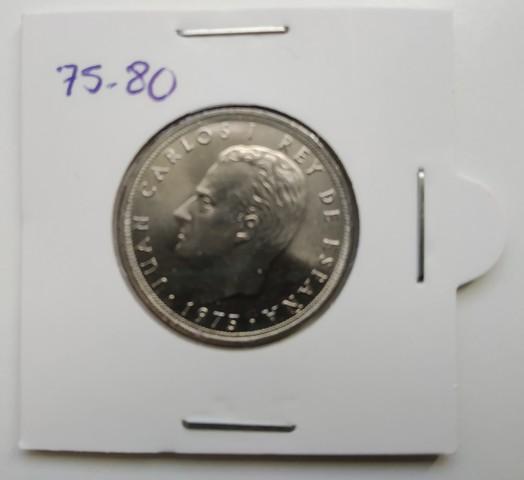 Dos Monedas De 25 Ptas. De 1975*80 (S/C)