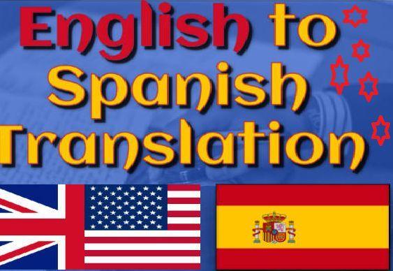 ENGLISH AND SPANISH TRANSLATIONS - foto 1