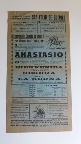 CARTEL: ANASTASIO,  A. BIENVENIDA,  LA SERNA - foto 1