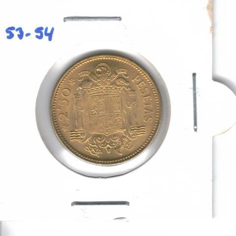 Moneda De  2,5 Ptas. De  1953*54  (S/C)