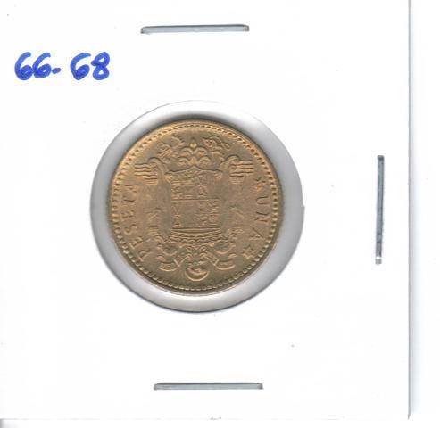 Moneda De  1 Pta. De  1966*68  (S/C)
