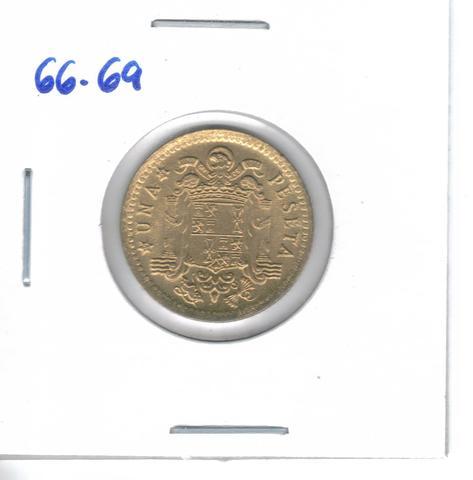 Dos Monedas De  1 Pta. De  1966*69 (S/C)