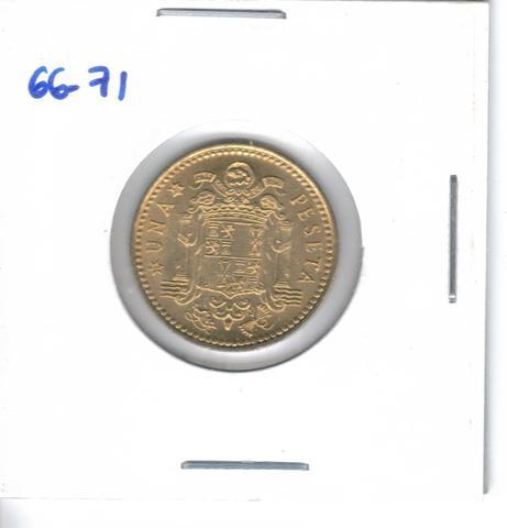 Moneda De  1 Pta. De  1966*71  (S/C)