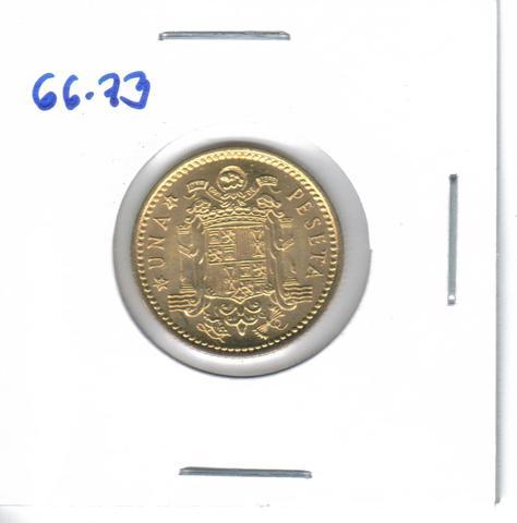 Tres Monedas De 1 Pta. De 1966*73  /S/C)